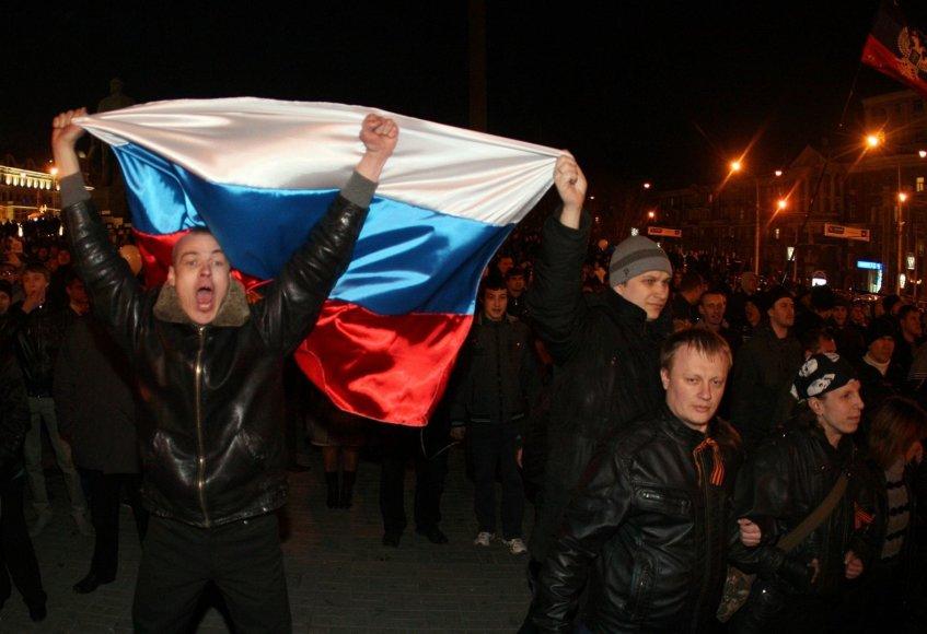 Protestuotojai Donecke