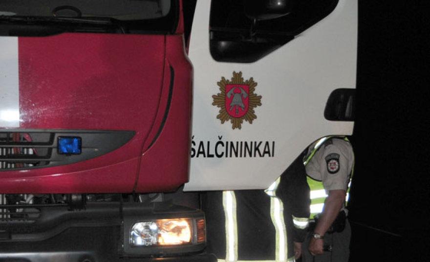Šalčininkų ugniagesiai, policija
