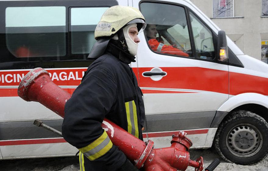 Ugniagesys įvykio vietoje