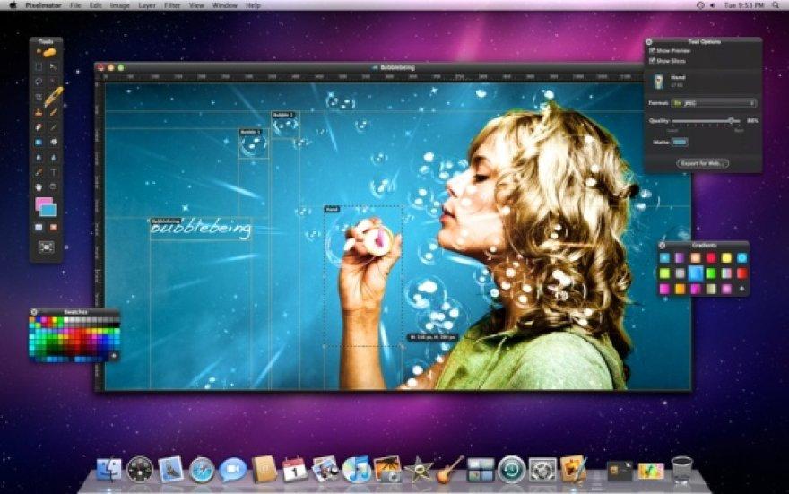 """Programa """"Pixelmator"""" galima piešti ir redaguoti nuotraukas."""