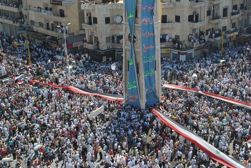 Masiniai protestai Sirijoje