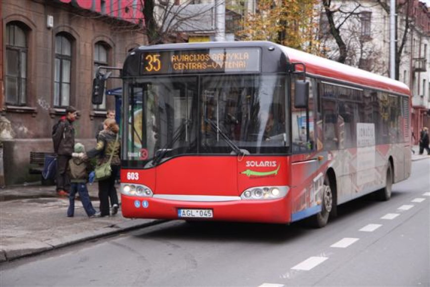 Autobusas Kaune.