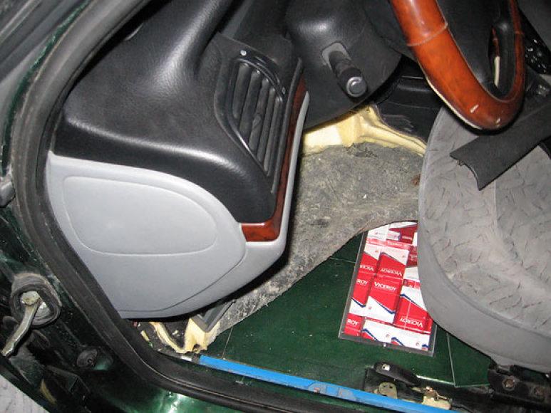 Kontrabandinių cigarečių slėptuvė