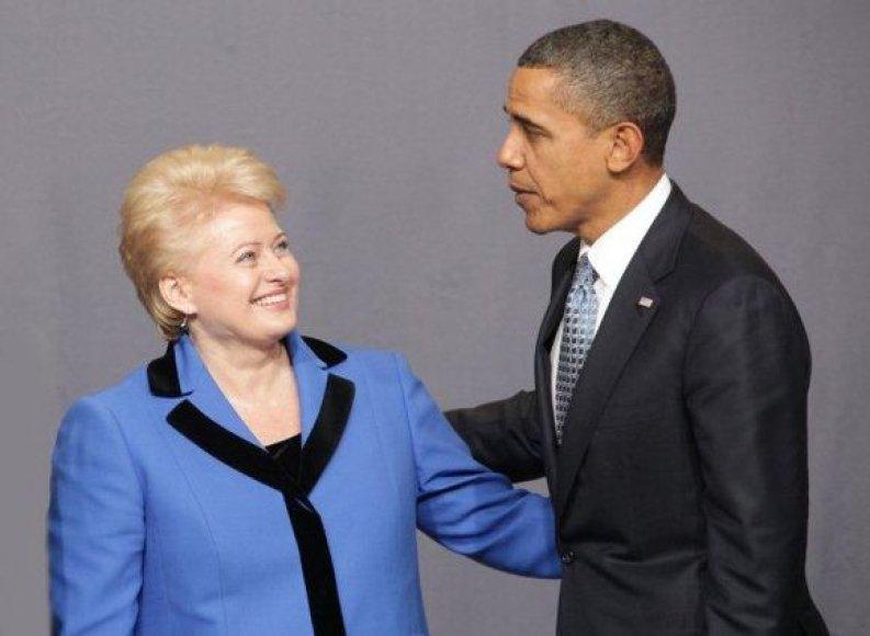 D.Grybauskaitė ir B.Obama