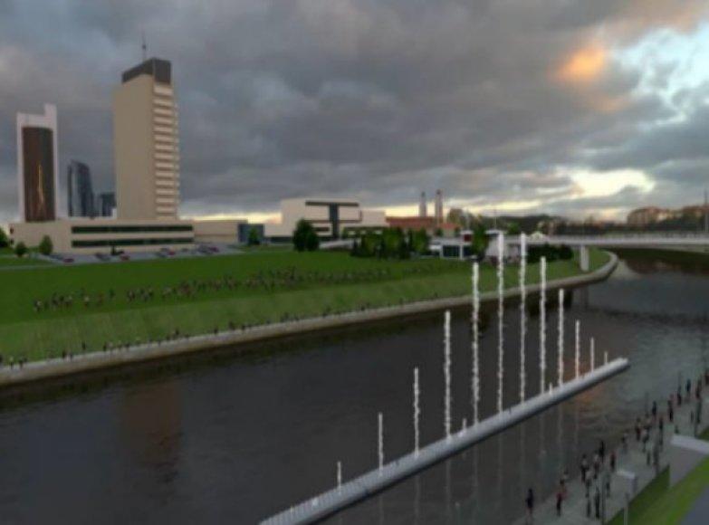 Vilniaus didysis fontanas.Pirminė vizualizacija