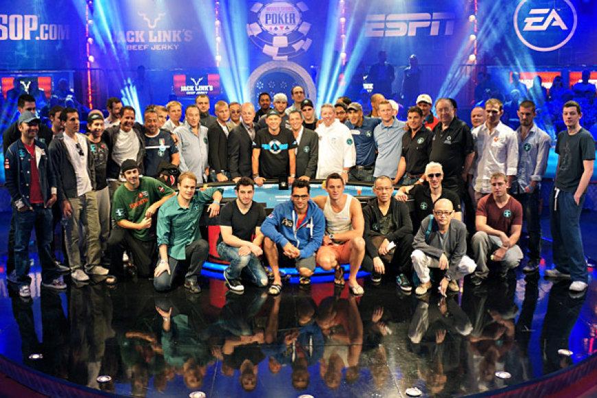 WSOP milijono dolerių įpirkos turnyro žaidėjai
