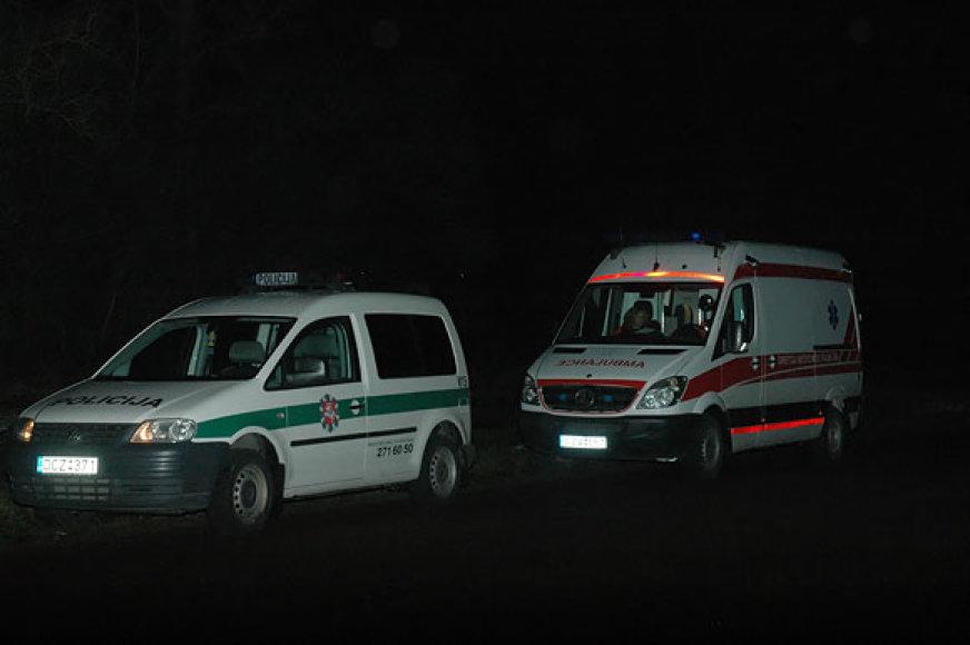 Policija ir greitoji pagalba įvykio vietoje