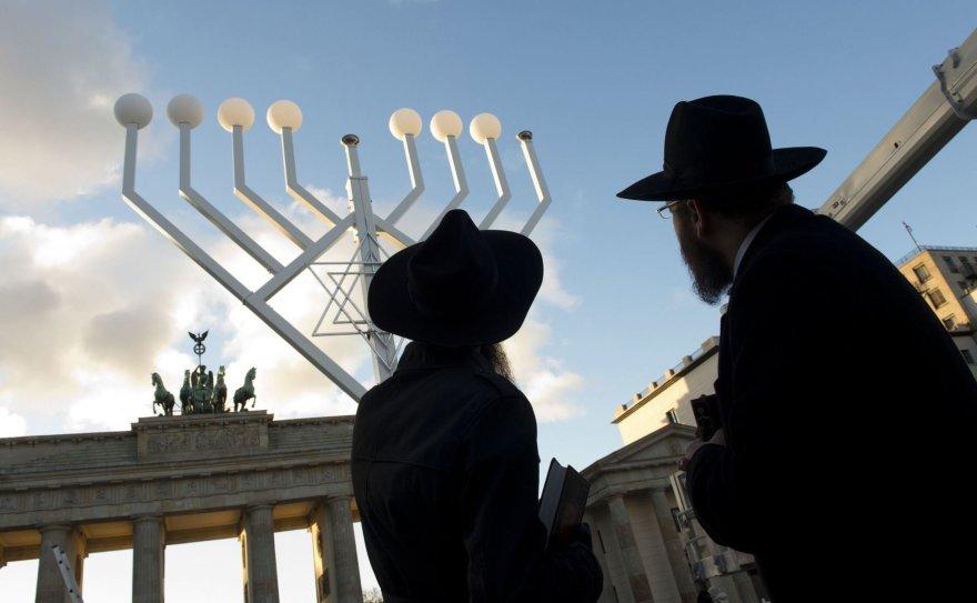 Didžiulė menora Berlyne