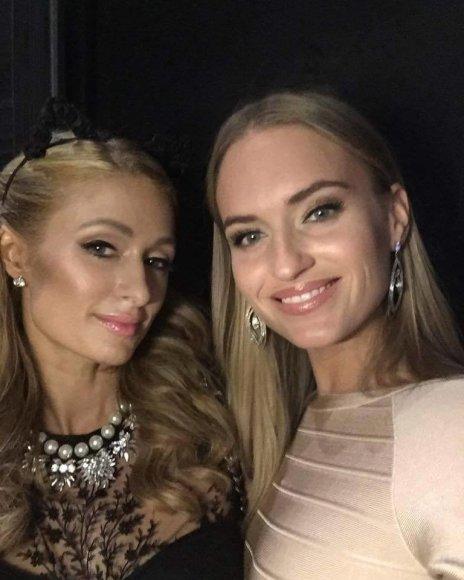 Asmeninio albumo nuotr./Paris Hilton ir Gintarė Gurevičiūtė
