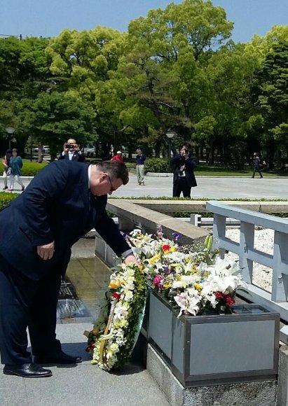 Linas Linkevičius Japonijoje