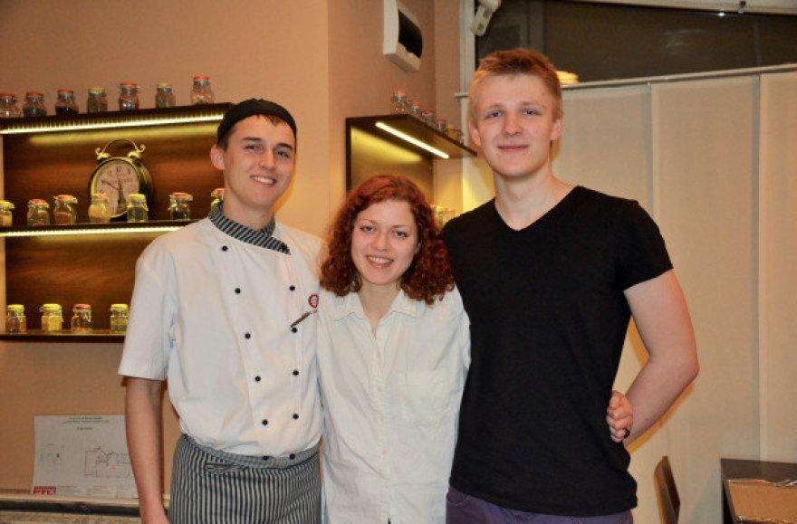 Būsimieji virtuvės šefai Arijus, Agnė ir Julius