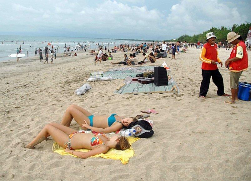 Turistų pamėgtos Balio salos paplūdimys