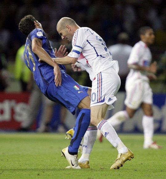 Marco Materazzi ir Zinedine'as Zidane