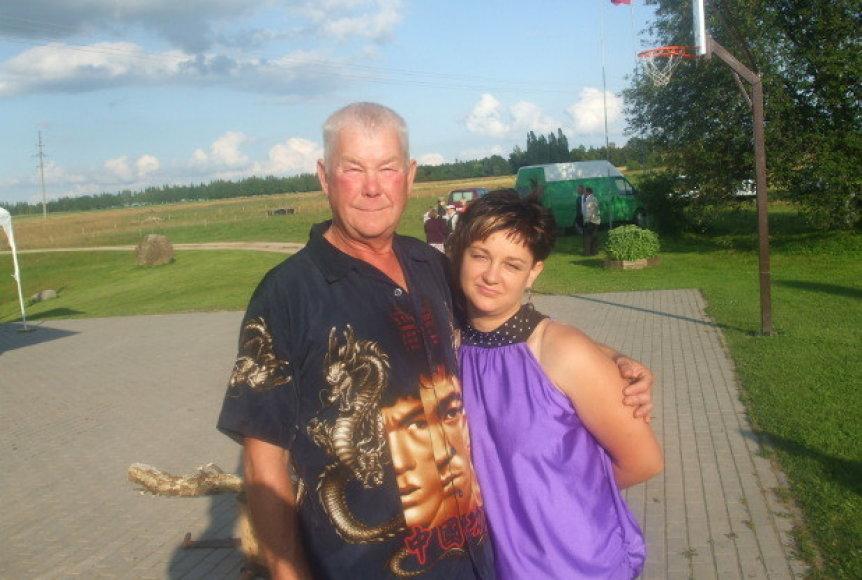 Pavelas Kovaliauskas su dukra