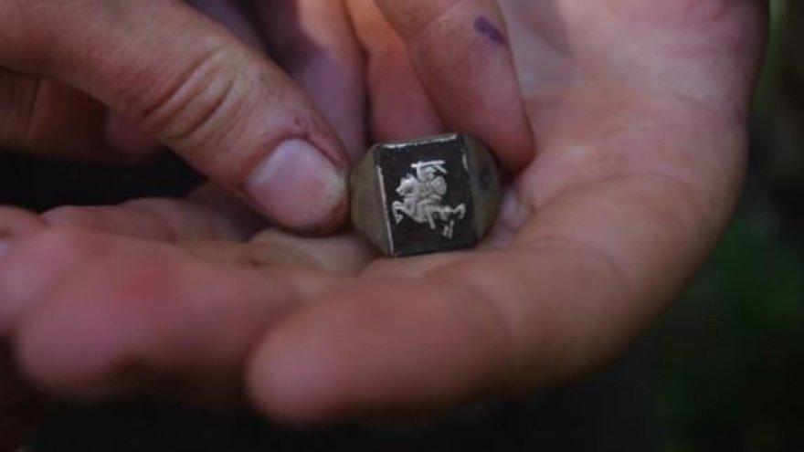 Rastas partizanų žiedas