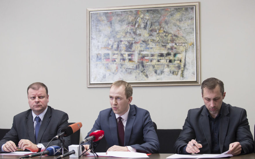 Saulius Skvernelis, Evaldas Serbenta ir Tomas Beržinskas