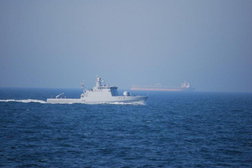 Lietuvos laivai kovinio rengimo mokymuose Baltijos jūroje