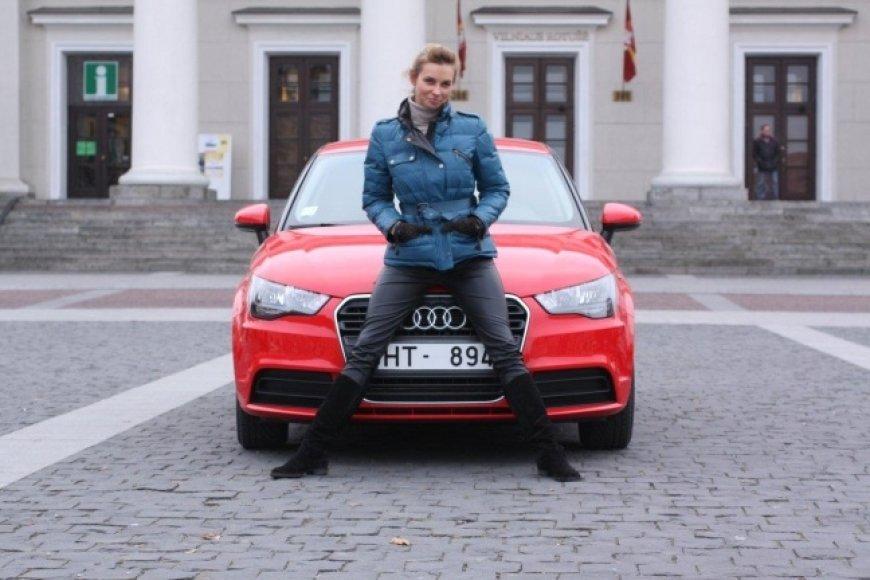 """Daiva Anužytė-Kasiulaitienė bando """"Audi A1"""""""
