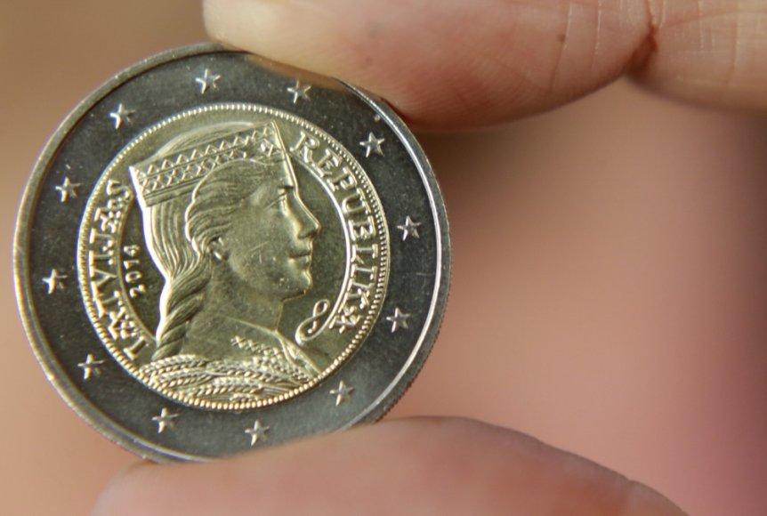Latvijos euro moneta