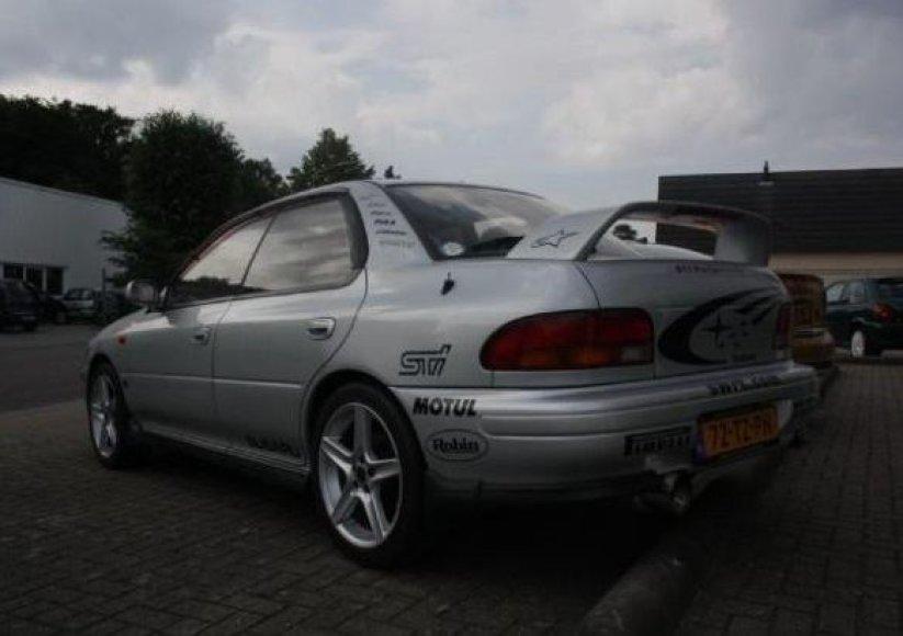 """Olandijoje parduodama galinga """"Subaru Impreza WRX STI"""""""