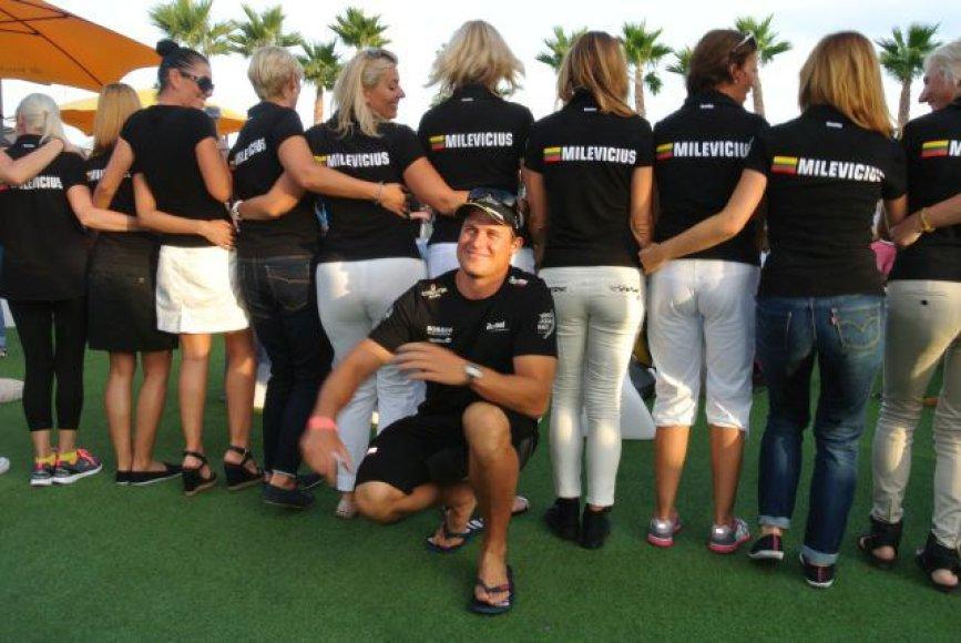 """Buriuotojo Roko Milevičiaus palydėtuvės į """"Volvo Ocean Race"""" startą Alikantėje"""