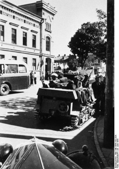 Kaunas. Sukilėliai tanketėje (1941 m. birželis)