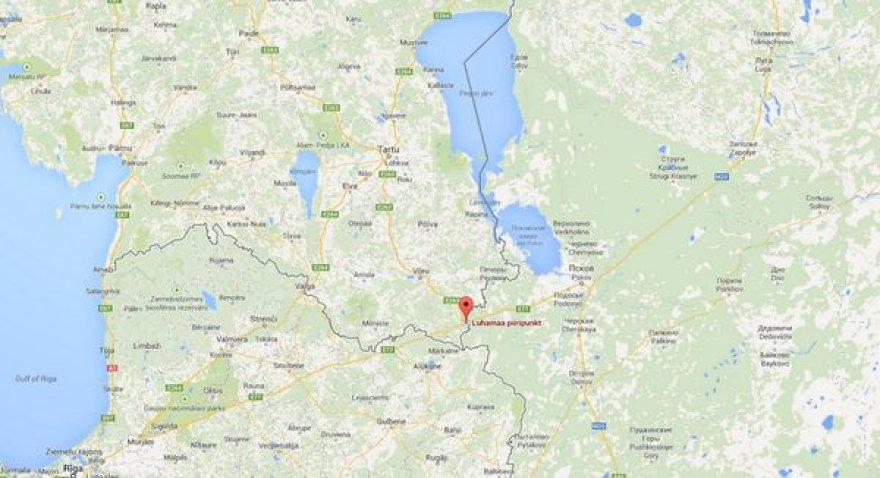 Vieta, kur pagrobtas Estijos pareigūnas