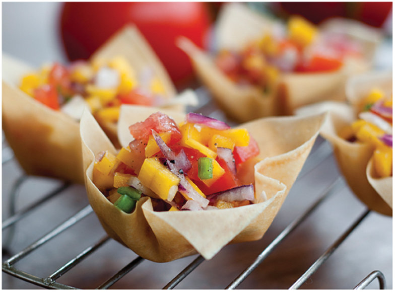 Vasariška salsa krepšeliuose