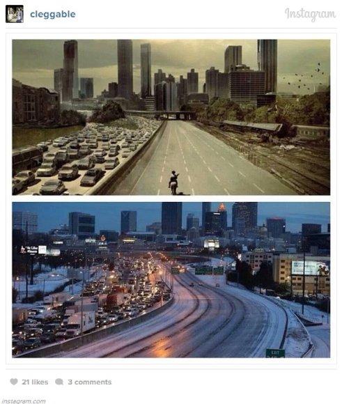 Atlanta po sniego audros