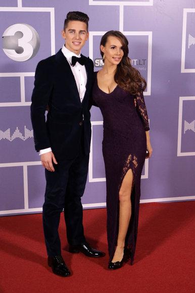 Donatas Montvydas su žmona Veronika