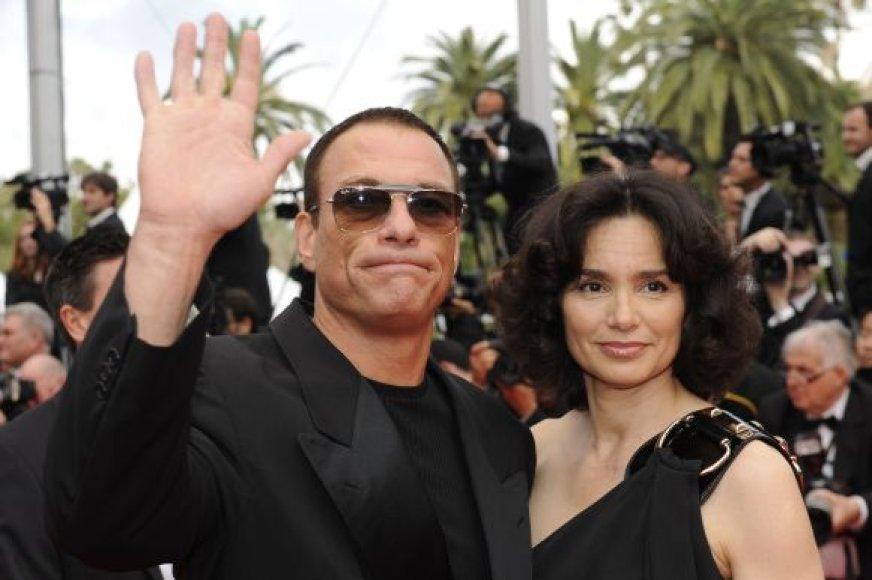 Jean Claude Van Damme'as su žmona Gladys Portugues