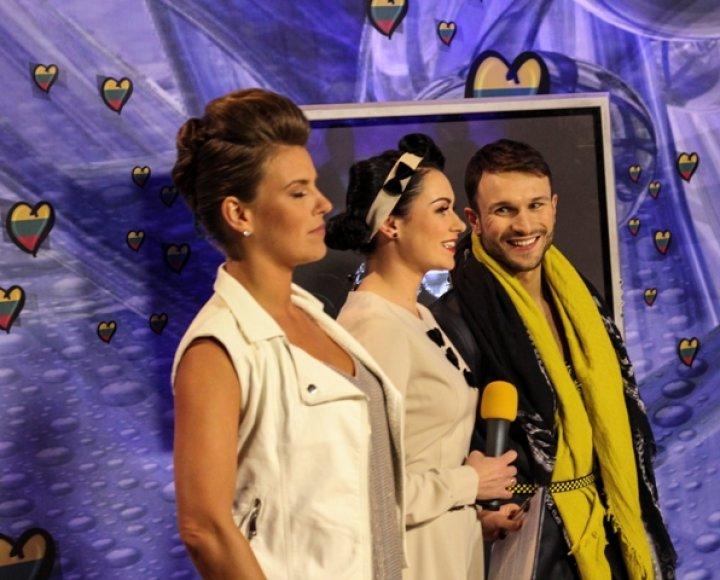 Vilija Matačiūnaitė, Simona Nainė ir Vaidas Baumila