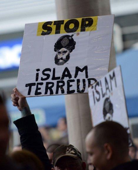Demonstracija prieš islamo ekstremizmą Kelne