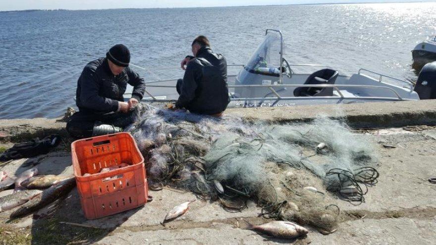 Brakonieriai ramiai, vidury dienos traukė žuvis iš tinklų prie Ventės rago ir nepaisė nei praeivių, nei inspektorių.