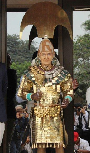 Peru atkurtas ikikolumbinės Amerikos valdovo veidas