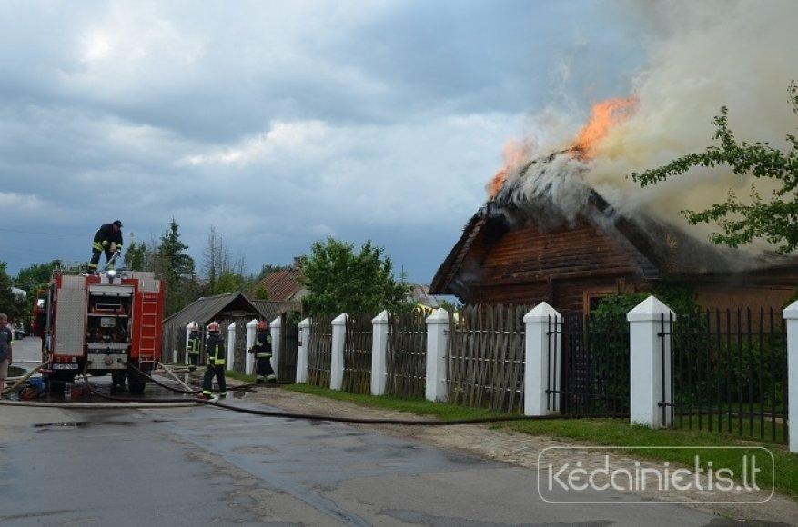 Kavinės gaisras Kėdainiuose