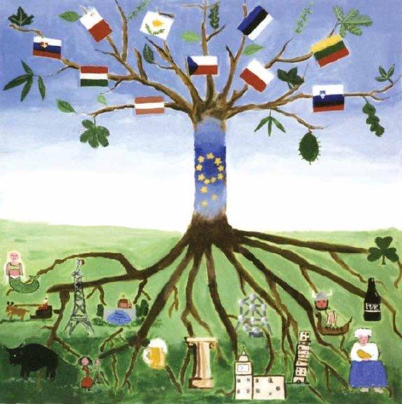 """ES konkursą laimėjęs moksleivių iš Belgijos darbas """"Europos medis"""""""