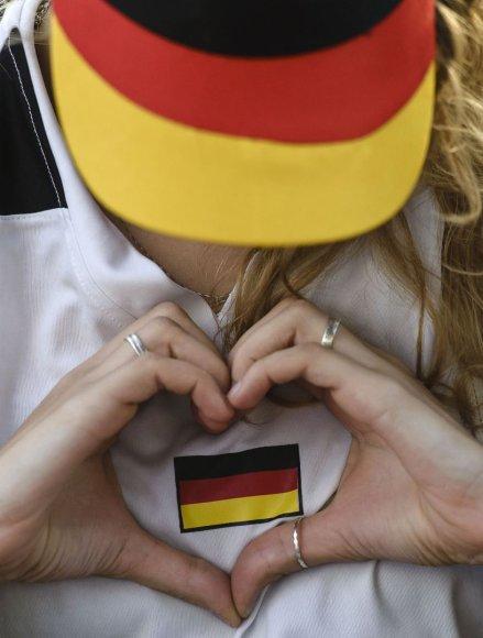 Vokietijos futbolo rinktinės gerbėja