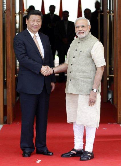 Kinijos ir Indijos prezidentų susitikimas