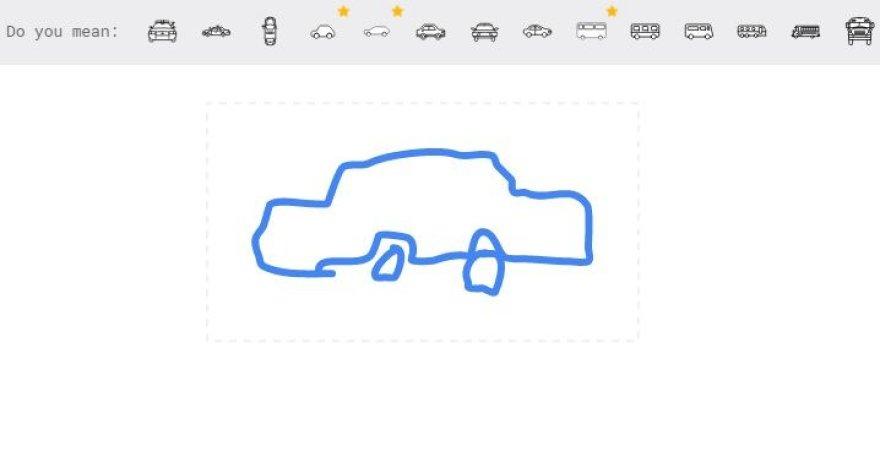 """""""Autodraw"""" atpažįsta net ir taip postimpresionistiškai nupieštą automobilį"""