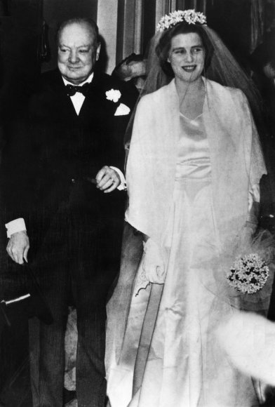 Winstonas Churchillis su savo dukra