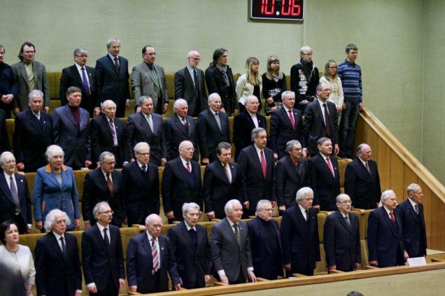 Dauguma signatarų į istorinę Seimo rūmų salę sugrįžta tik per iškilmingus minėjimus.