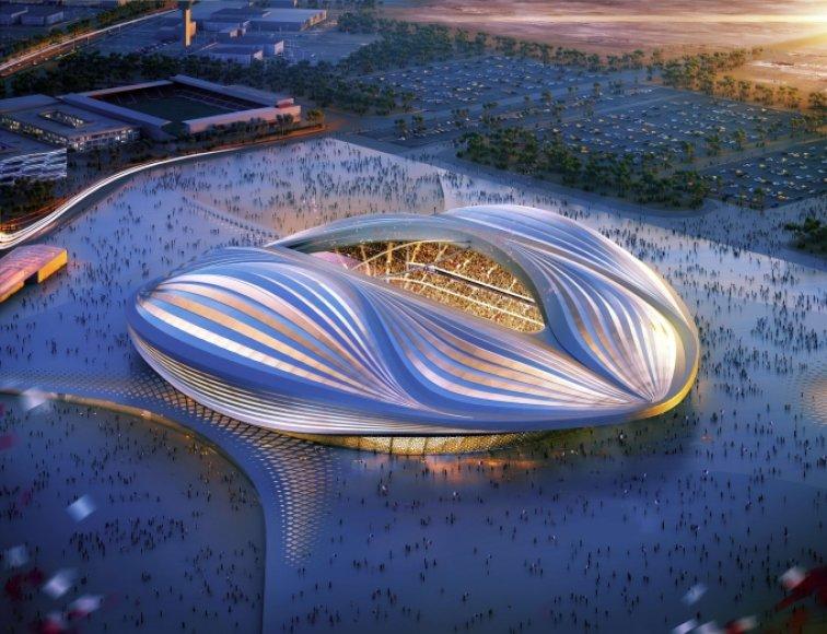 Zahos Hadid projektas KIataro pasaulio futbolo čempionato stadionui