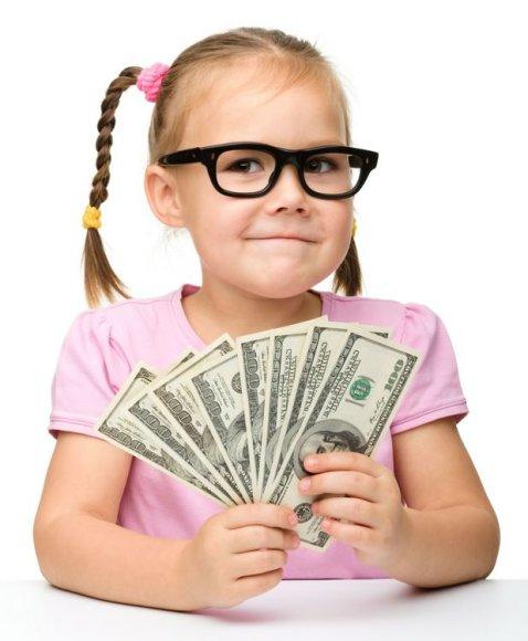 Mergaitė su akiniais