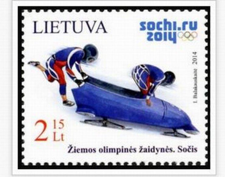 Sočio žaidynėms skirtas pašto ženklas
