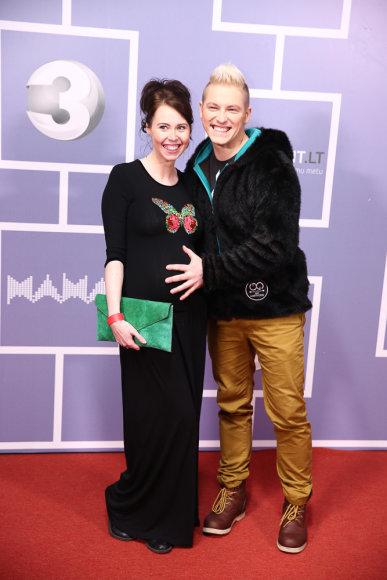Vilius Tamošaitis su žmona Ingrida