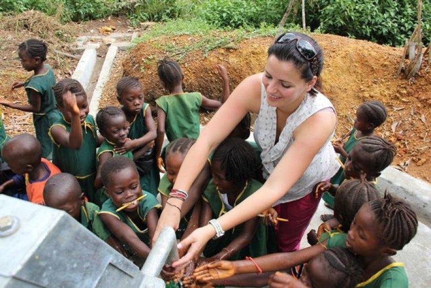Renata Šakalytė UNICEF misijoje