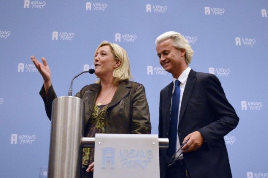Marine Le Pen ir Geertas Wildersas