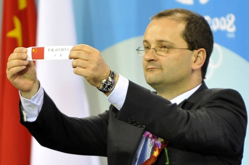 FIBA generalinis sekretorius Patrickas Baumannas.