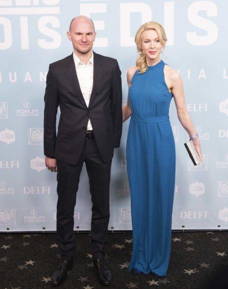Martynas Kėvišas su žmona Julija